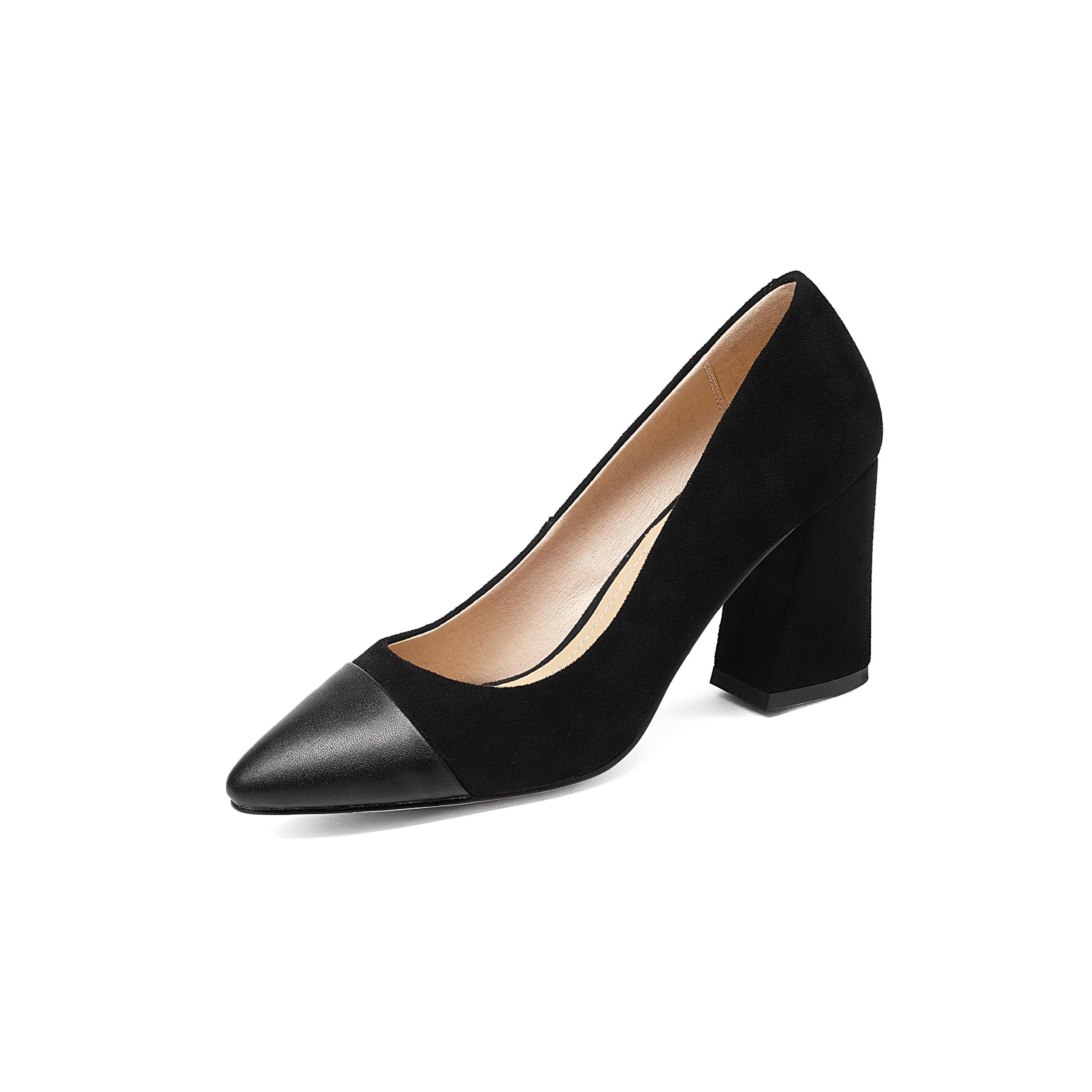 Ladiea Cuir De Véritable Femmes Femme Patchwork Poined En Nouvelles gris noir Orteil Hauts Talons Chaussures Apricot 2019 qOH00