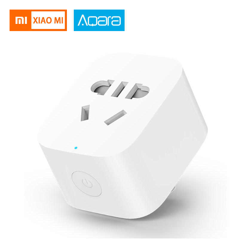 Original Xiaomi Aqara Mi Smart WiFi Socket Plug ZigBee Version Remote Control Switches Timer Plug Work With Xiaomi Smart Home