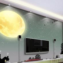 Papel tapiz 3d personalizado papel tapiz clásico para paredes cielo con Luna árbol silueta Sala papel tapiz para habitación pintura 3d