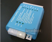 Blue PC 20/24 Pin PSU ATX SATA HD Power Supply Tester
