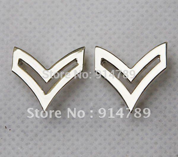 Paire insigne de grade de collier en métal tamisé caporal de larmée américaine-32216