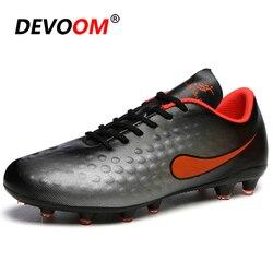 2019 nowe dziecięce buty do piłki nożnej mężczyźni długie kolce męskie buty piłkarskie Athletic Soccer Cleats mężczyźni Tf korki dzieci Chuteira Futsal
