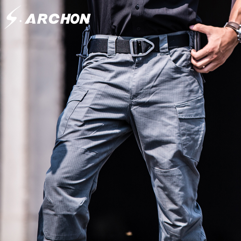 s.archon Lightning series Waterproof Telfon Rip-stop Tactical Pants Men SWAT Army Pants New Fabric Military Trousers