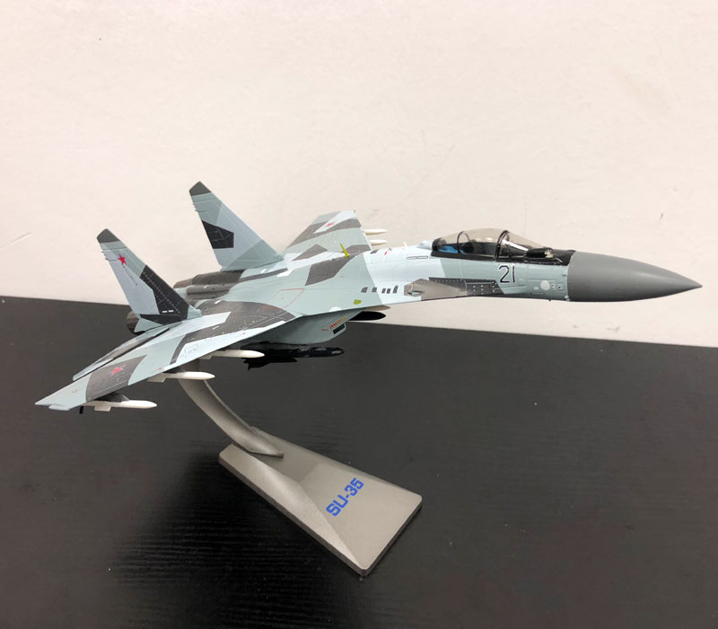 YJ 1/72 Scale Military Model Toys Sukhoi Su-35 Flanker-E/Super Flanker Fighter Diecast Metal Plane Model Toy For Collection jc wings xx4362 atr 72 hb acb 1 400 etihad airways commercial jetliners plane model hobby