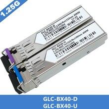 1 çift SFP BIDI optik alıcı verici modülü 1000BASE BX optik modülü SM GLC BX40 D/U 40km LC DDM optik alıcı verici modülü