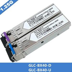 Image 1 - 1 paar SFP BIDI Optische Transceiver Modul 1000BASE BX Optische Modul SM Für GLC BX40 D/U 40km LC DDM Optischen transceiver Modul
