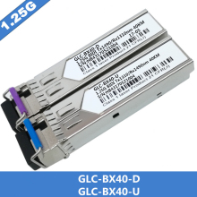 1Pair New For GLC-BX40-D/U SFP BIDI Optical Transceiver Module 1000BASE-BX SMF, 1310nm-TX/1550nm-RX, 40km, LC, DDM