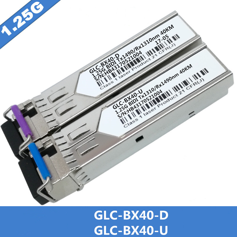 1Pair SFP BIDI Optical Transceiver Module 1000BASE BX Optical Module SM For GLC BX40 D/U 40km LC DDM Optical Transceiver Module-in Fiber Optic Equipments from Cellphones & Telecommunications