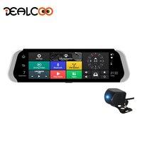 Dealcoo 10' Touch Screen Android Car DVR Mirror Camera ADAS Video Recorder Camera Dual lens 1080P Full HD Dash Cam Car Black Box