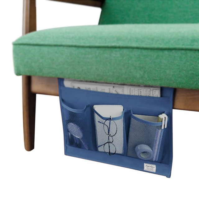 4 Pocket Bedside Hanging Bag Bed Desks Sofa Chair Caddy Storage Holder  Magazines Phones Pouch