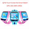 Femperna q750 niños gps smart watch con wifi 1.54 pulgadas de pantalla táctil Dispositivo de Localización de Llamadas SOS Perseguidor de Seguros para Niños PK Q60 Q80 Q90