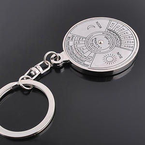 Ring Calendar Keychain Jewelry Compass Gifts Aluminum-Alloy