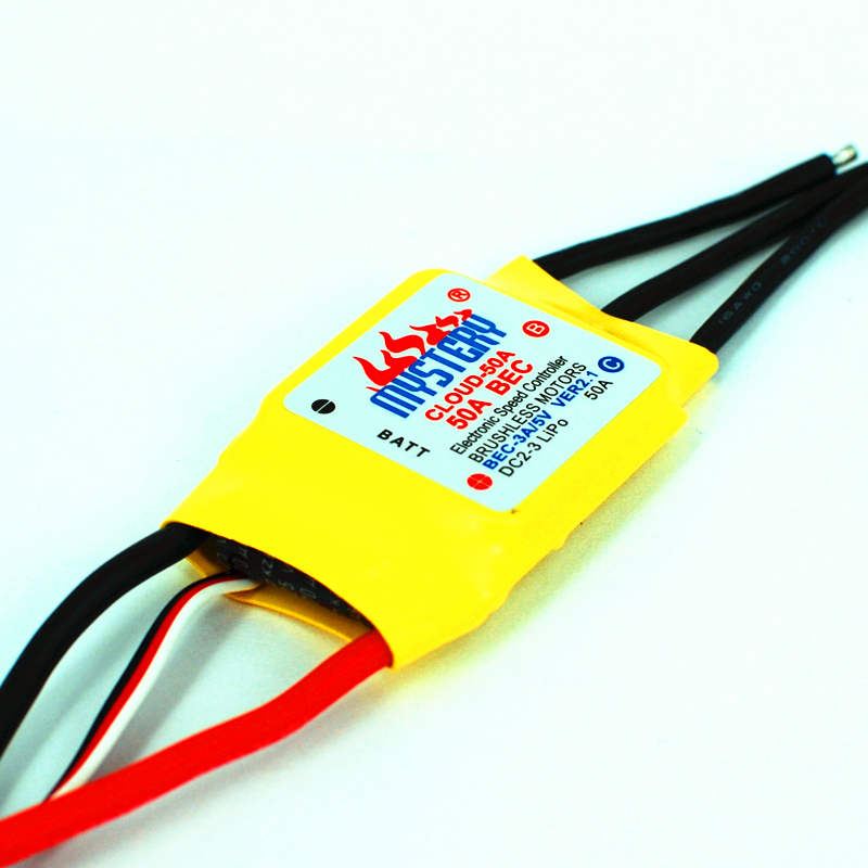 Mystery Cloud 50A brushless ESC w/2A BEC RC Speed Controller Brushless Motor RC Airplane Helicopter ce emc lvd fcc 7g 10g 20g 30g ozone generator portable ozone machine