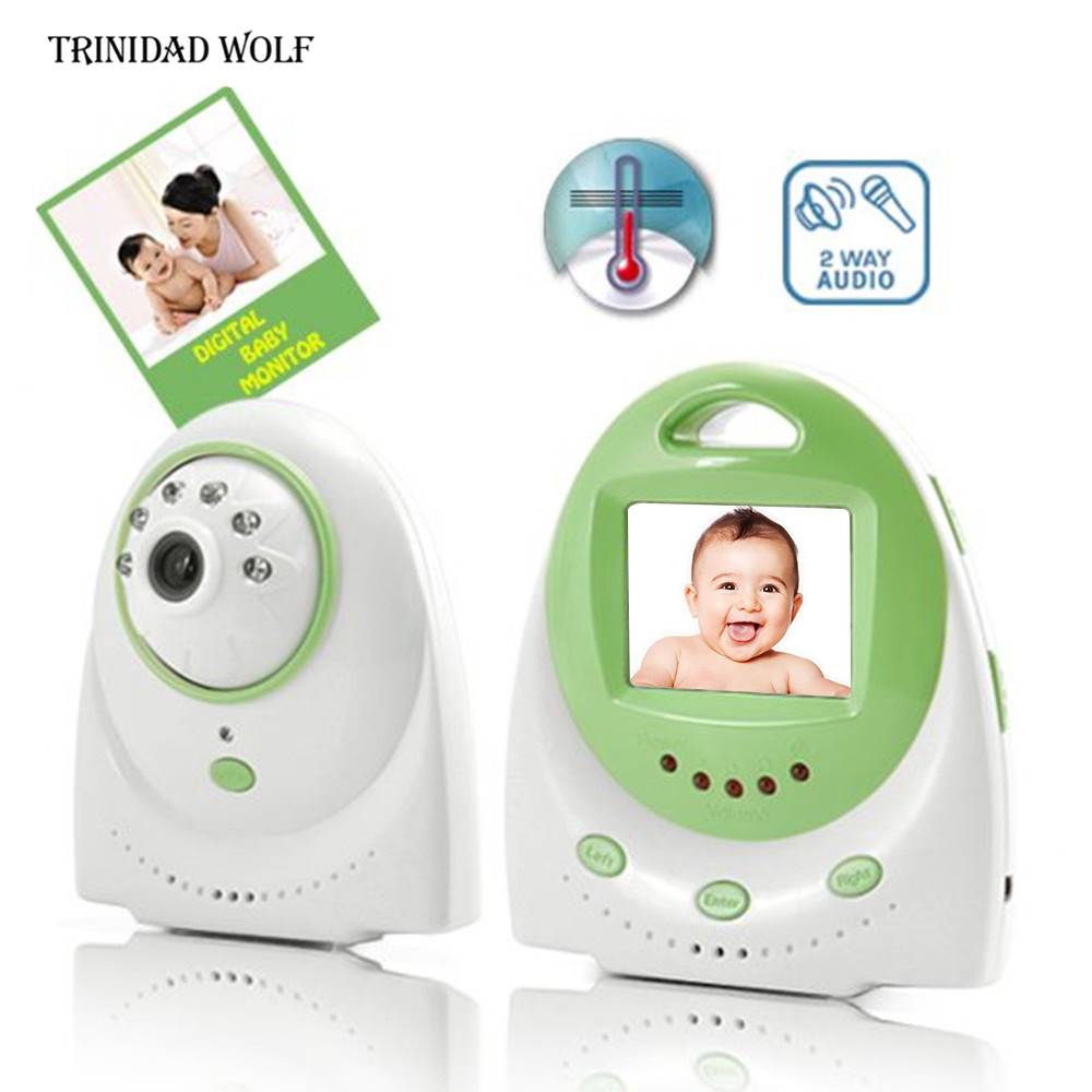 TRINIDAD WOLF 2.5 Wireless Baby Monitor Support TV OUT Display Clock Temperature Monitor Music Nanny Babysitter Baby Camera