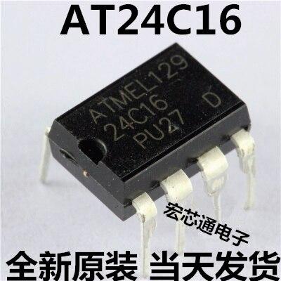 10pcs/lot AT24C16-PU27 AT24C16 24C16 DIP-8