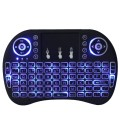 Backlight i8 + Inglês Versão Mini Teclado Sem Fio 2.4 GHz Air Mouse Touchpad para Android TV BOX Laptop Backlit