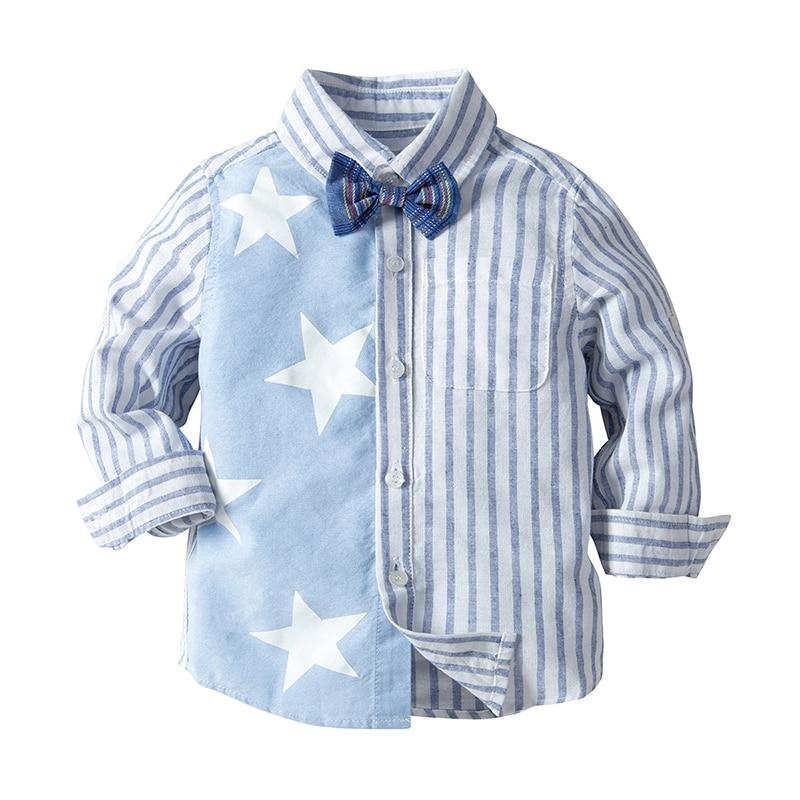 Mutig Dollplus 2019 Neue Kinder Shirts Für Junge Mit Langen Ärmeln Gestreiften Jungen Hemd Baumwolle Frühling Herbst Tops Kinder Kinder Kleidung Shirts Mutter & Kinder