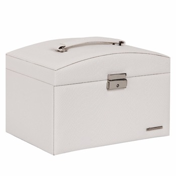 White Large Jewelry Storage Boxes For Girls Rings Organizer Travel Case