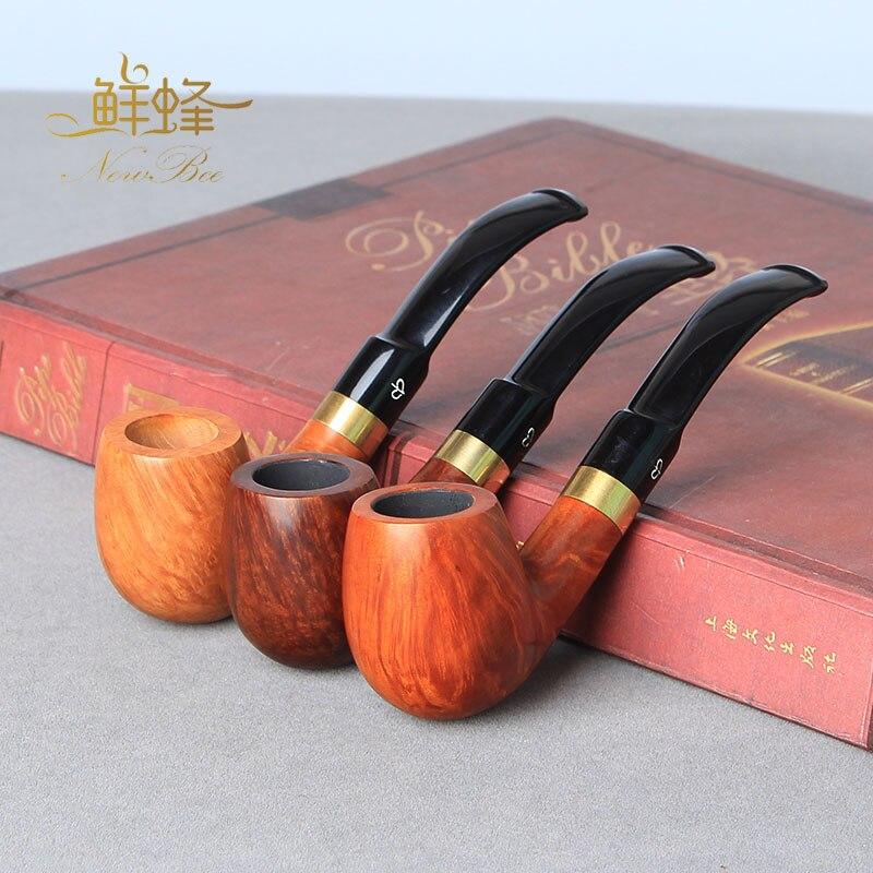 NewBee 10 outils de nettoyage + Briar bois tabac fumer tuyau décoration anneau en métal 9mm filtre rack sac brosse aa0071