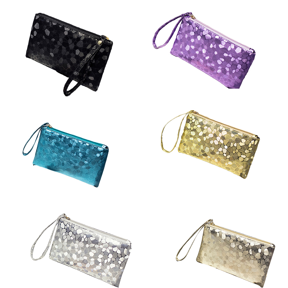 1PC Women Cosmetic Bag Laser Portable Durable Makeup Case Small Zip Makeup Box Holographic Travel Make-up Bag