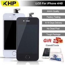 Продажа 2018 100% оригинал кхп AAAA Экран ЖК-дисплей для iphone 4S 4 Экран ЖК-дисплей Замена Экран IPS Дисплей touch качество 4S 4 ЖК-дисплей s