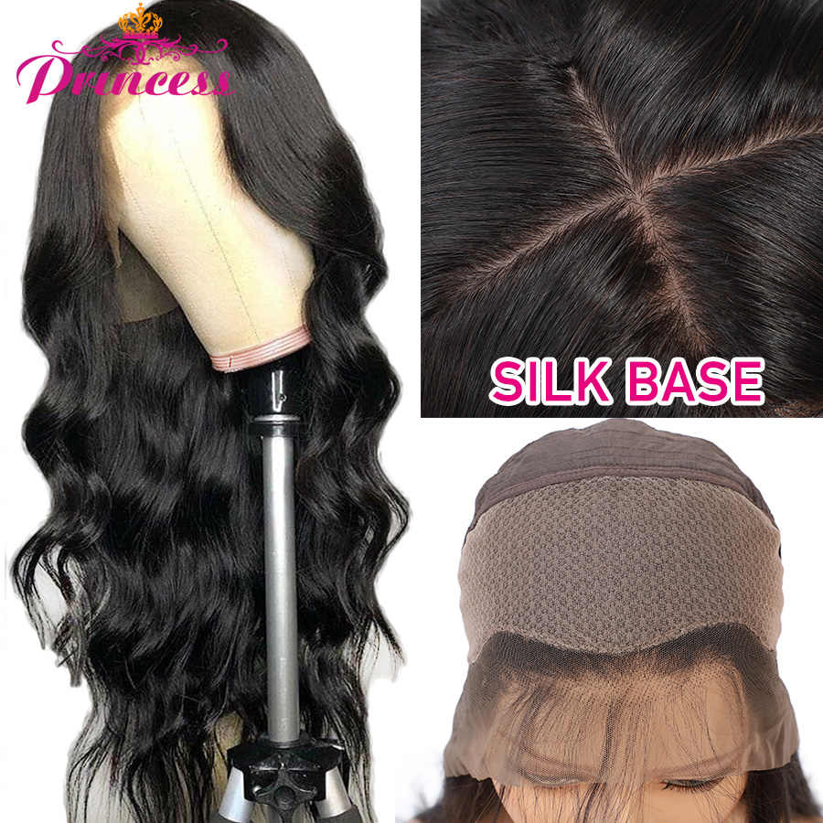 Beautiful Princess Body Wave Silk Base Lace Front Human Hair Wigs Pre Plucked Brazilian Remy Hair 13x4 Silk Top Lace Front Wigs