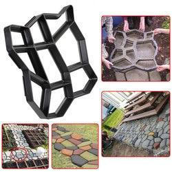 1Pc Pavement Mold DIY Plastic Path Maker Mold Manually Paving Cement Brick Molds Stone Road Concrete Molds Decor Tool Durable