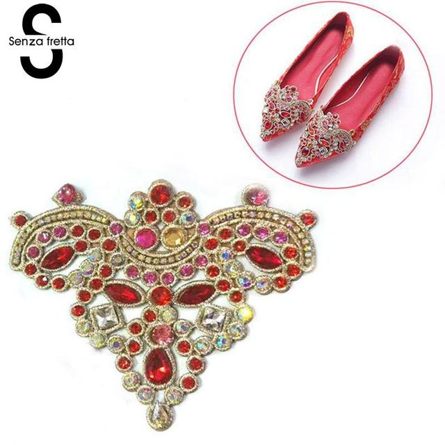 Senza Fretta 1PC Bridal Wedding Shoes Clips for Decoration Embroided Rhinestones  Shoe Accessories Women DIY Shoes Charms Crystal 63e1dd6b2b16