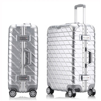 20''24''26''29'' Metal Hardside Rolling Luggage Suitcase Checked Luggage Aluminum Luggage Travel Trolley Suitcase Wheels