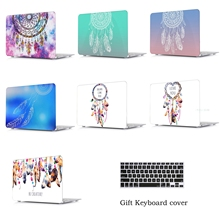 Plastic Hard Case with Keyboard Cover for MacBook Air 13 11 Pro 13 15 Retina Display & Touch Bar New 12 Inch Dream Catcher enkay crystal hard protective case for 15 inch macbook pro with retina display translucent green