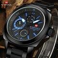 2017 Novos Homens De Luxo Da Marca Relógios de Quartzo da Forma Dos Homens Relógio Masculino Aço Completa Militar Do Exército Sports Relógio de Pulso Relogio Masculino