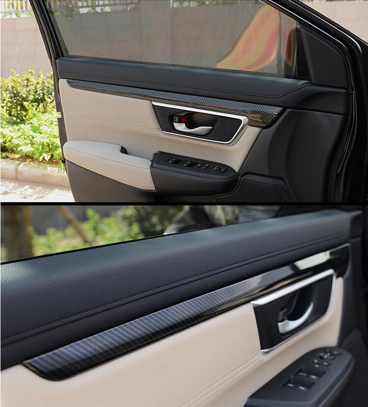 Luxury Wood Chrome For Honda Crv 2017 Car Inside Door Panel Strip
