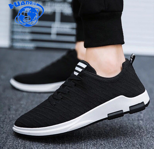 HUANQIU homens sapatos Malha Respirável sapatos casuais Homens Sapatos da moda homens sapatilhas homens malha aérea sapatos vulcanize ZLL354