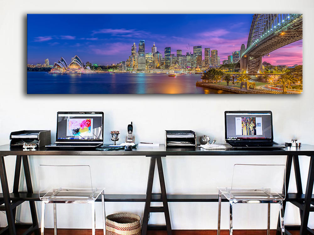 2016 Free Shipping Rushed New Painting Sydney Australia City Panorama Wall Art Picture For Living Room