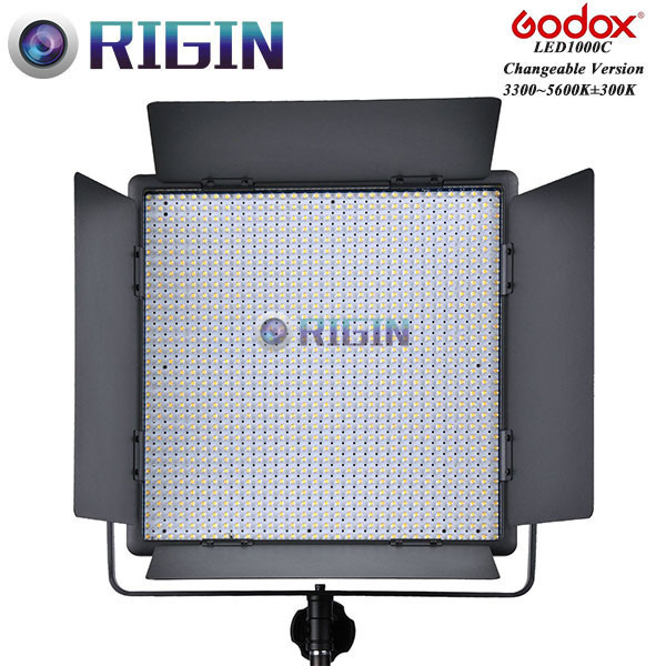 Godox Professional LED Video Light LED1000C Changeable Version 3300K-5600K New arrival Free shipping godox professional led video light led500w white version 5600k new arrival free shipping