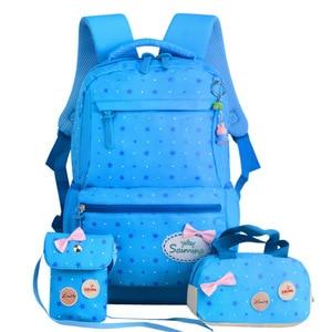 Image 5 - Children School Bags Teenagers Girls Printing Rucksack school Backpacks 3pcs/Set Mochila kids travel backpack Cute shoulder bag