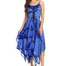 JAYCOSIN Dress Women Summer Fashion Sexy Irregular Lace Up Dress plus size Corset Bodice Handkerchief Hem loose Dress 508(China)