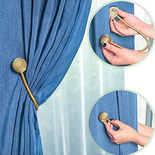 1 Pair Magnetic Curtain Hooks Home Decoration Accessories Round Ball Clips For Holder Tieback House Clean Collection
