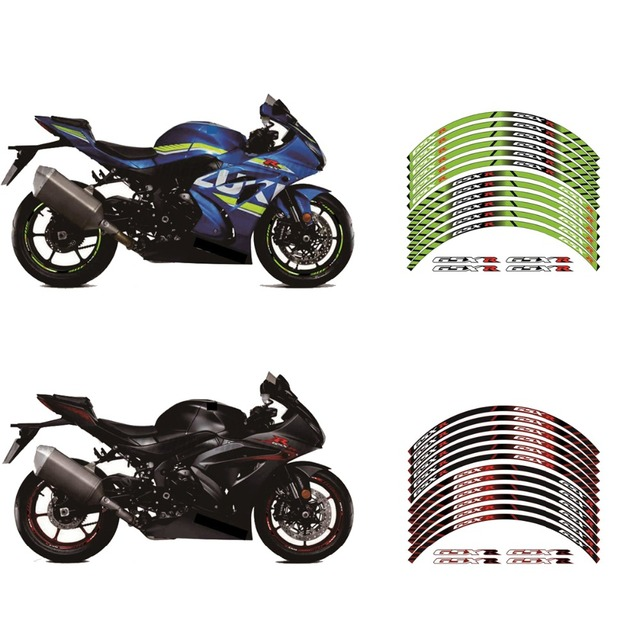 High Quality Motorcycle Wheel Decals Waterproof Reflective Stickers