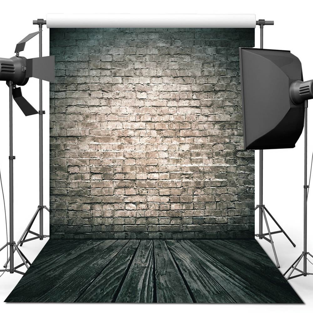 150X210CM Photography studio Green Screen Chroma key Background Polyester Backdrop for Photo Studio Dark Brick YU002-in Background from Consumer Electronics