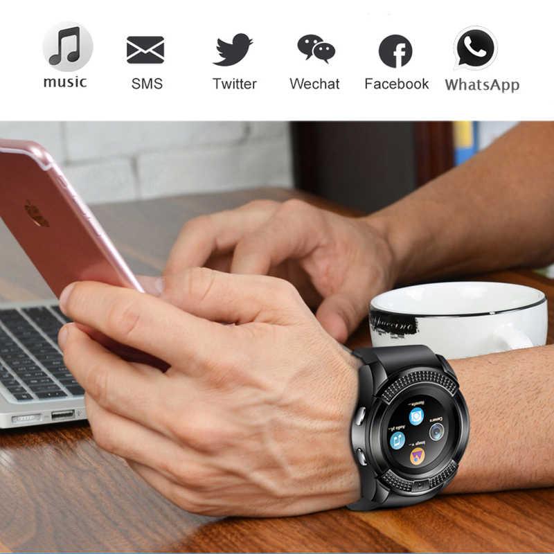 LIGE hombres mujeres reloj inteligente reloj de pulsera con cámara Bluetooth SIM TF tarjeta Smartwatch para Android Teléfono pareja reloj + caja