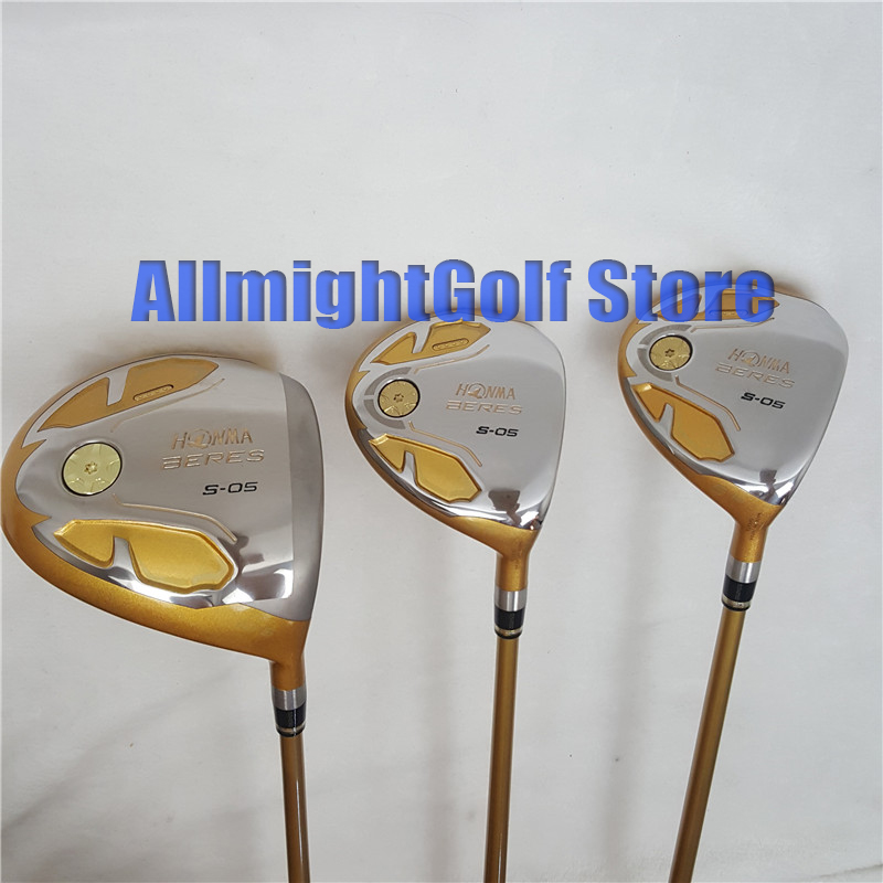 Golf Driver HONMA S 05 4 star Driver loft 9.5 or 10.5 Fairway Golf Clubs with Graphite Golf shaft free shipping-in Golf Clubs from Sports & Entertainment