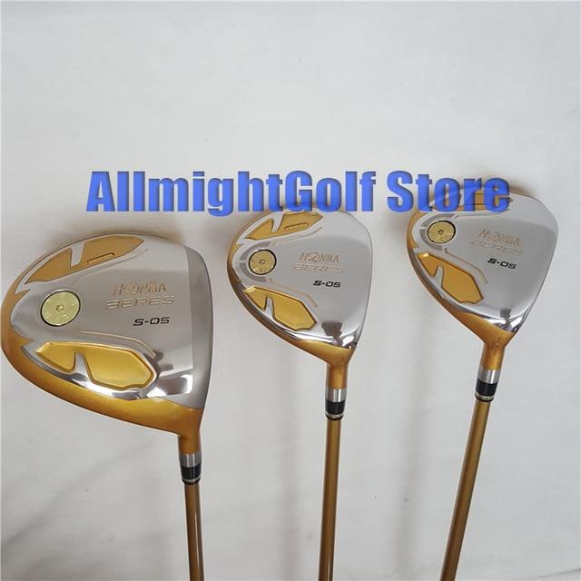 أداة لعب الجولف هونما S 05 4 نجمة سائق لوفت 9.5 أو 10.5 الممر السالك نوادي الغولف مع الغولف الجرافيت رمح شحن مجاني