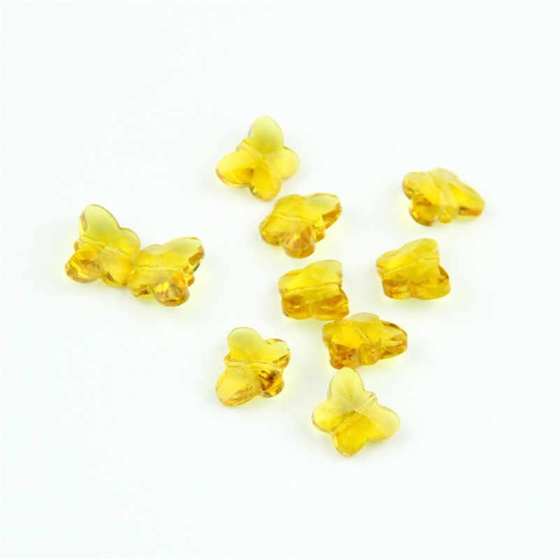 Машина для резки 1000 шт Желтый цвет 14 мм бабочки бисер люстра бусины в среднем отверстии может сделать Diy подарок, чтобы передумать