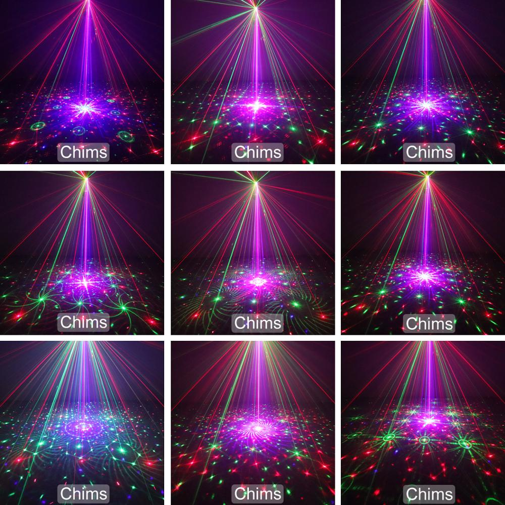 Image 4 - Chims RGB Stage Light Party Laser Light 96 Pattern Laser Projector Led Colorful DJ Music Xmas Disco Light Show Dance DJ Club Bar-in Stage Lighting Effect from Lights & Lighting
