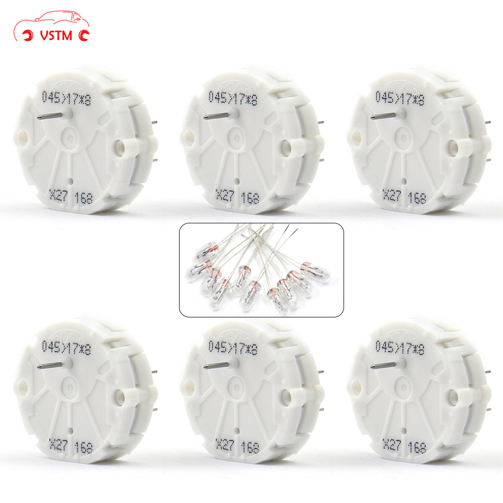X27 168 (6PCS) + 10pcs Bulbs Stepper Motor For Speedometer Gauge Repair Kit Cluster X27.168