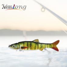 Купить с кэшбэком Mmlong 16.5cm Multi Jointed Swimbait Fishing Lure AL12B 39g Hard Wobbler Baits With Hooks Artificial Para Pesca Fishing Tackle
