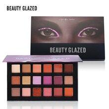 BEAUTY GALZED 18 Colors Matte Shimmer Eyeshadow Palette 3D Nude Eyes Makeup Glitter Pigments Shining Eye Shadow Powder Cosmetics