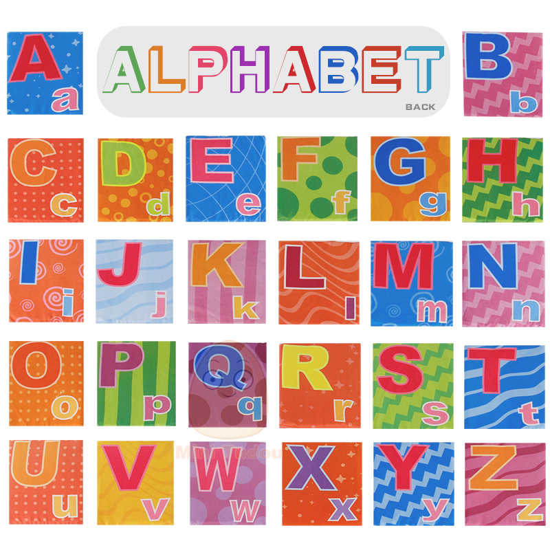 Image 3 - Newest Flashcards Learning Resource Baby Book Toy 26PCS Soft Alphabet Cards With Cloth Bag Babies English Reading Books    -