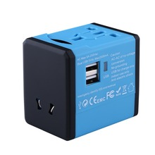 Universal Charger Adapter with Dual USB Port Worldwide Electrical Socket